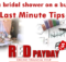 bridal shower budget Last Minute Tips RedPayday